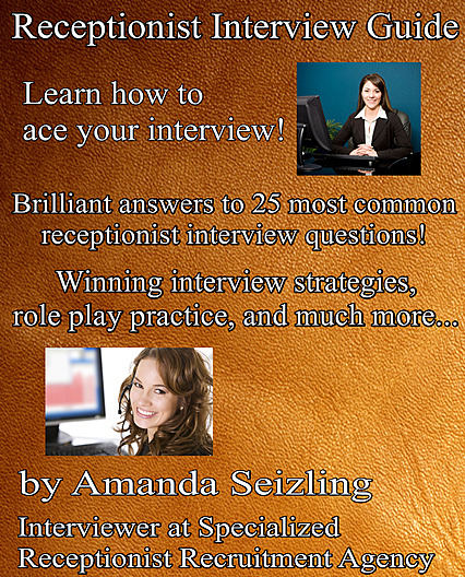 Receptionist Interview Guide eBook, cover for 2018 edition